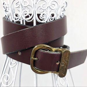 Aigner Vintage Womens size 28 Belt brown Leather